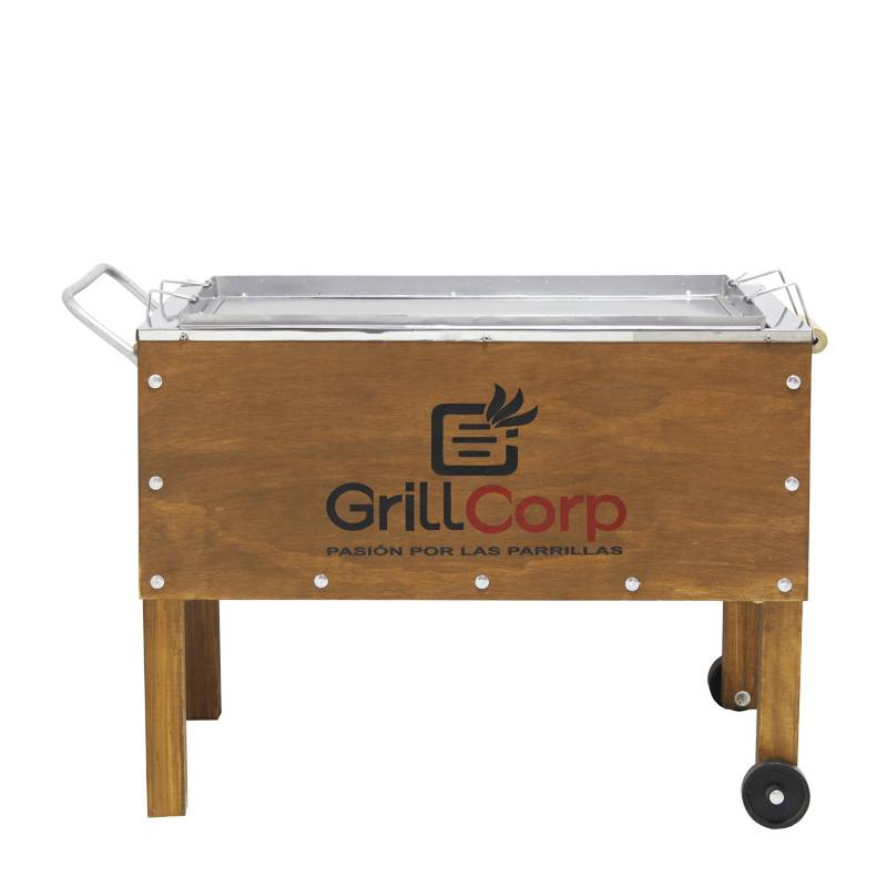 GRILLCORP - Caja China Mediana Acero Galvanizado Línea Clásico