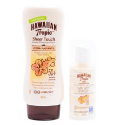 HAWAIIAN TROPIC - Loción Sheer Touch 240 ml + Loción Silk Hidratation 50 ml