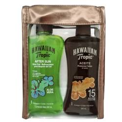 HAWAIIAN TROPIC - Loción Carrot FPS 30 240 ml + Aceite FPS 4