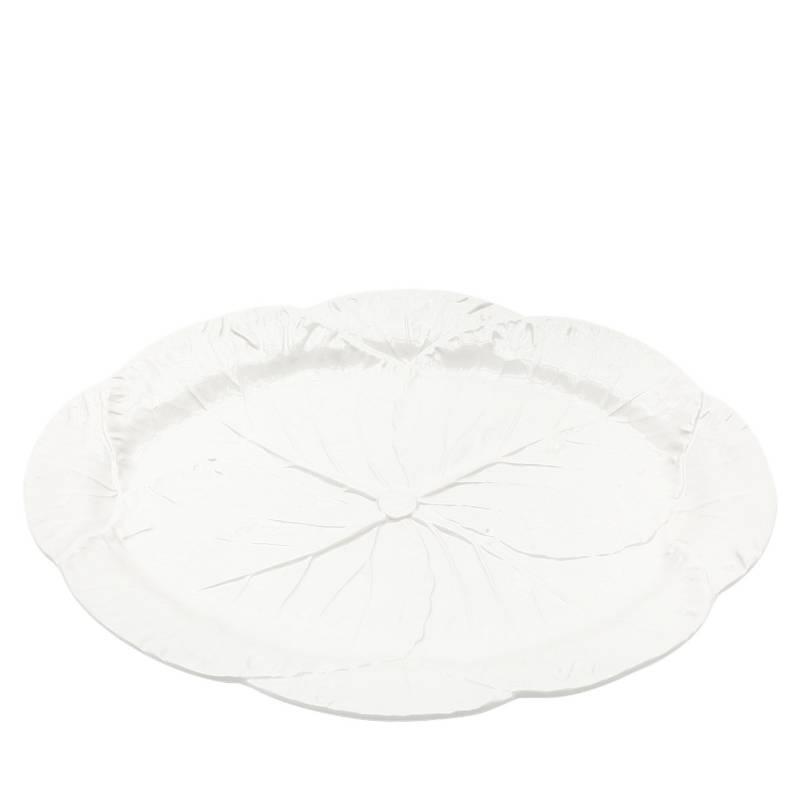 BORDALLO - Fuente Ovalada Grande Blanco 35 cm