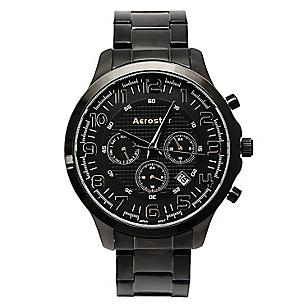 Reloj Aerostar Hombre Metal Negro Falabella Com