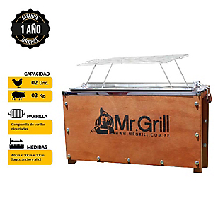 Caja China Mini + Parrilla Var. Niq.