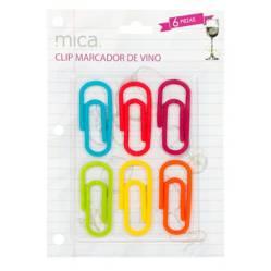MICA - Marcadores Vino Clips x 6 Piezas