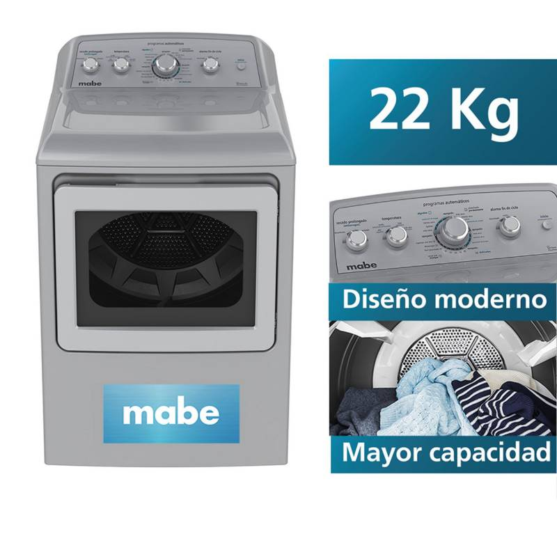 MABE - Secadora a Gas Mabe Silver 22 Kg