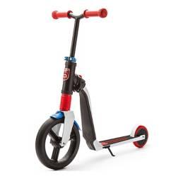 SCOOT & RIDE - Scooter-Bicicleta de Balance Highwayfreak Blanco con Azul y Rojo