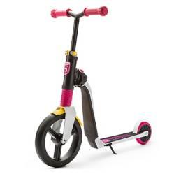 SCOOT & RIDE - Scooter-Bicicleta de Balance Highwayfreak Blanco con Rosado y Amarillo