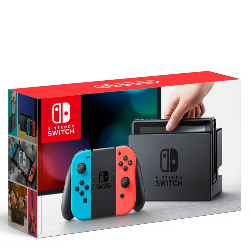NINTENDO - Consola Nintendo Switch Neon Blue + Controles Joy-Con