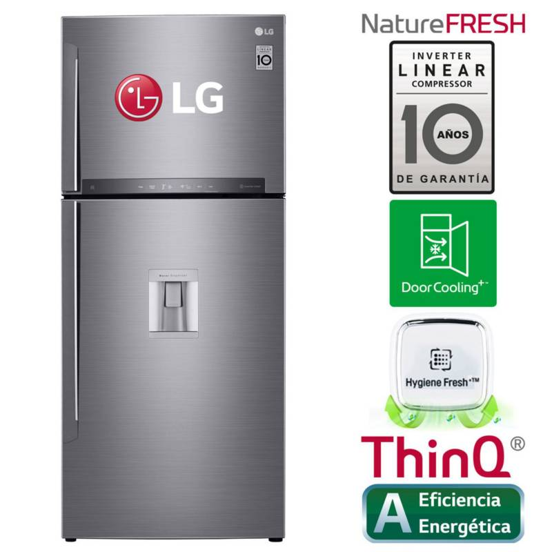 LG - Refrigerador 410Lt    LT41SGP  Inox