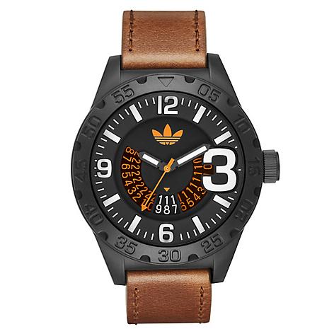Hombre Reloj Adidas Reloj Hombre Marrón Adidas Cuero kXn0NOP8w
