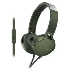 SONY - Audífonos Over Ear con Micrófono MDR XB550AP Verde