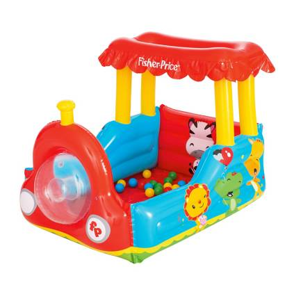 a77b4c144 img · FISHER PRICE. Tren Inflable con Pelotas