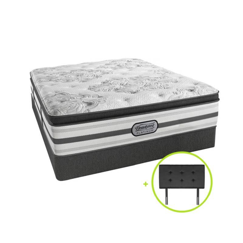 BEAUTYREST SIMMONS - Cama Box Tarima Pocket Platinum Pt Queen