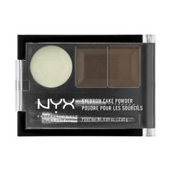 NYX Professional Makeup - Fijador de cejas Eyebrow Cake Powder tono Dark brown/Brown NYX