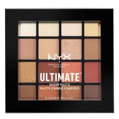 NYX Professional Makeup - Paleta de sombras Ultimate Shadow Palete tono Warm Neutrals NYX