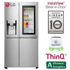 LG - Refrigeradora LG Side by Side InstaView Puerta Mágica 601 LT LS65SXN Plateada
