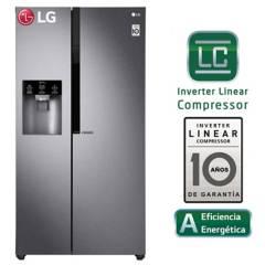 LG - Refrigeradora LG Side by Side con Moist Balance Crisper 591 LT LS63SPGK Acero Grafito Oscuro
