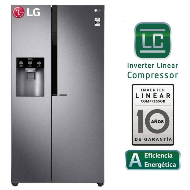 LG - Refrigerador Side by Side LS63SPGK 591 Lt