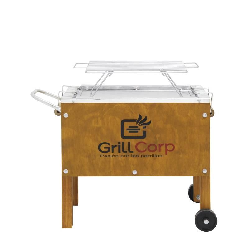 GRILLCORP - Caja China Chica Acero Galvanizado + Parr de Varillas Niq