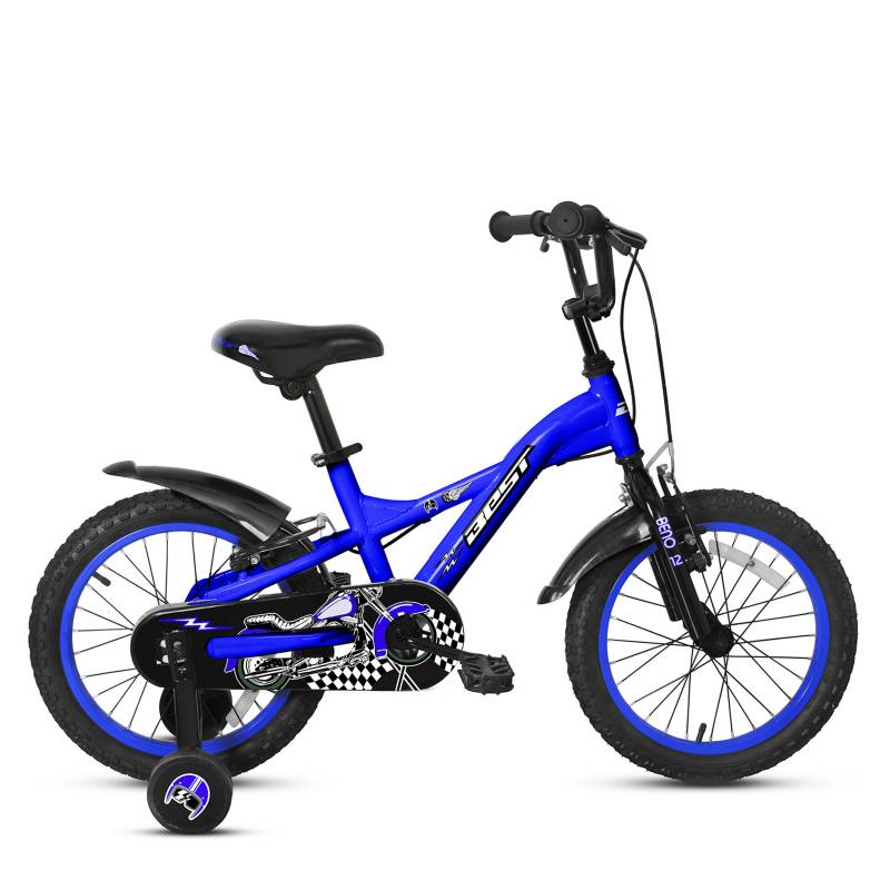 BEST - Bicicleta Beno Aro 12 Azul Negro