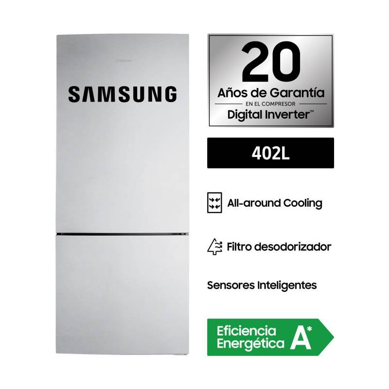 SAMSUNG - Refrigerador Bottom Freezer Samsung RL4003SBASL 402 Lt Silver