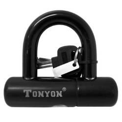 TONYON - Candado U-Lock c/llave (100 x 92 x 12 mm)