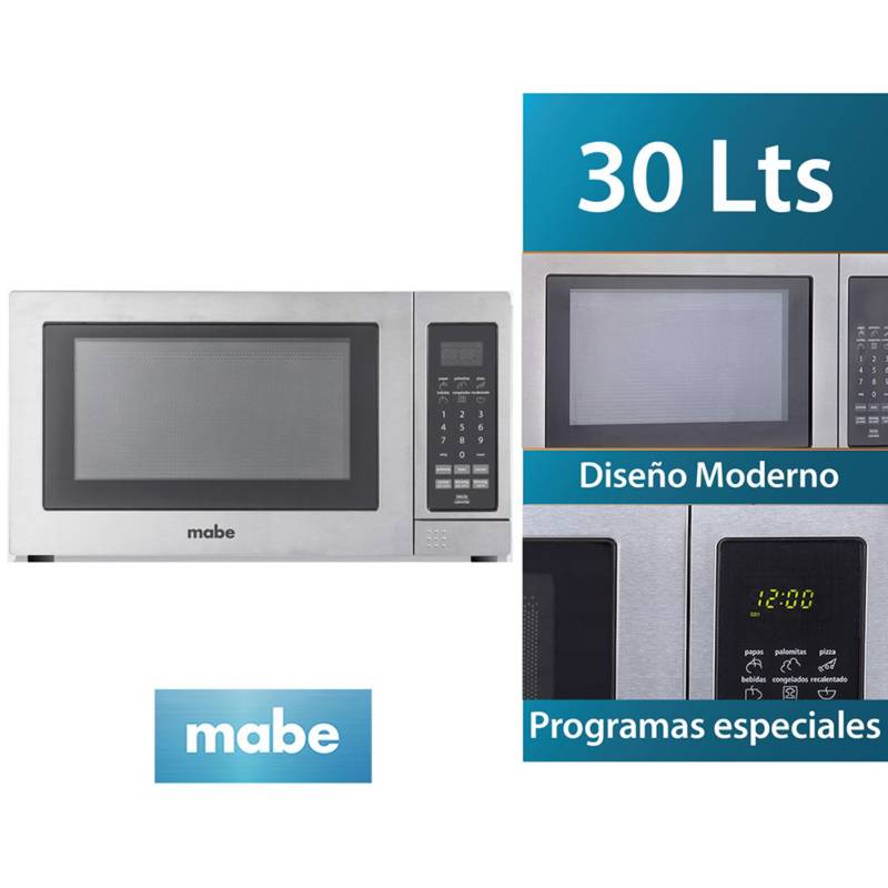 MABE - Horno Microondas HMM31PSX 30 Litros Inox