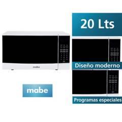 MABE - Horno Microondas HMM20PEE 20 Litros Blanco