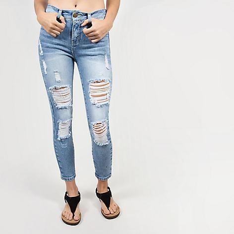 Jeans Aeropostale Rotos Relax Falabella Com