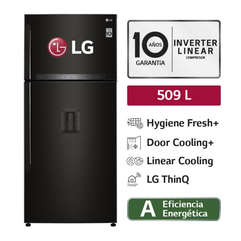 LG - Refrigeradora LG Top Mount con Filtro Higiénico inteligente 509 LT LT51SGD Negro Acero
