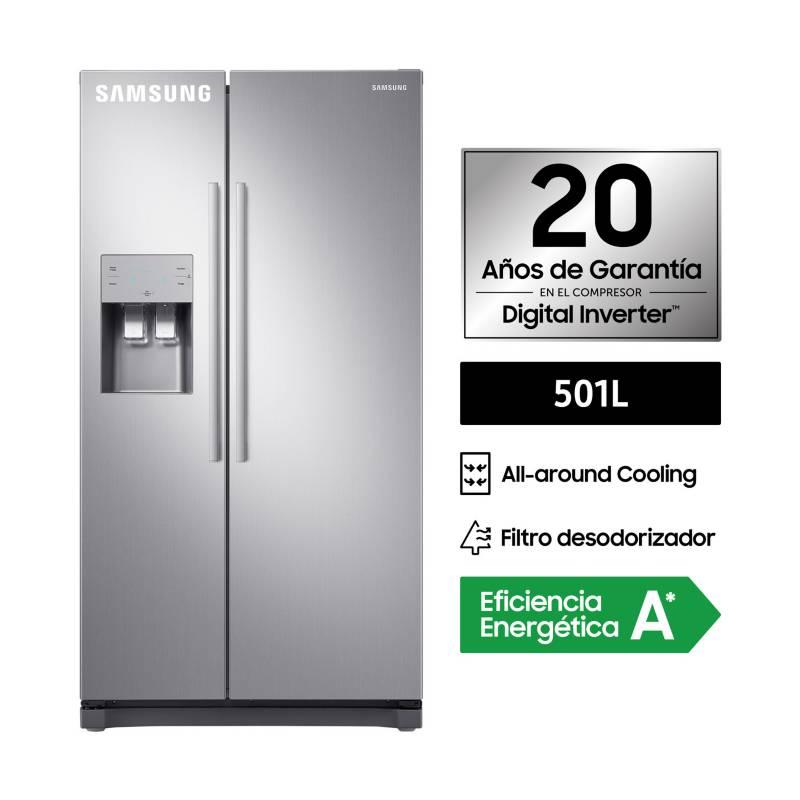 SAMSUNG - Refrigerador Side by Side RS50N3503S8/PE SBS Silver