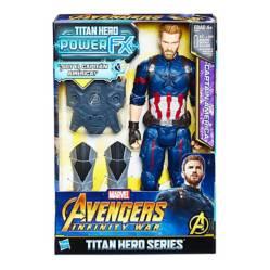 AVENGERS - Power Pack + Figura Capitán América 30 cm