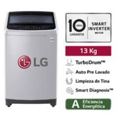 LG - Lavadora LG Carga superior Smart Inverter con TurboDrum TS1366NTP 13 Kg Gris
