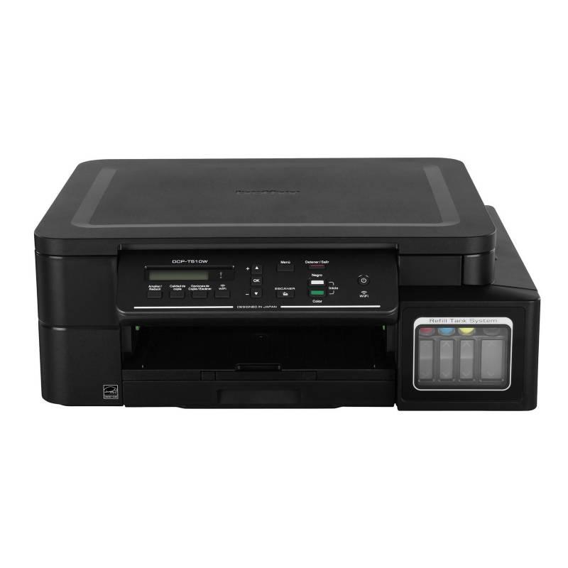 BROTHER - Impresora Multifuncional DCP-T510W Negro