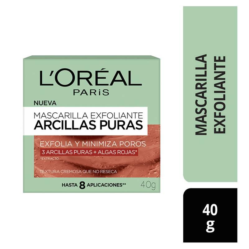 L´OREAL PARIS - Mascarilla Exfoliante de Arcillas Puras 40 ml