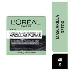 L´OREAL PARIS - Mascarilla negra efecto Detox de Arcillas Puras 40 ml