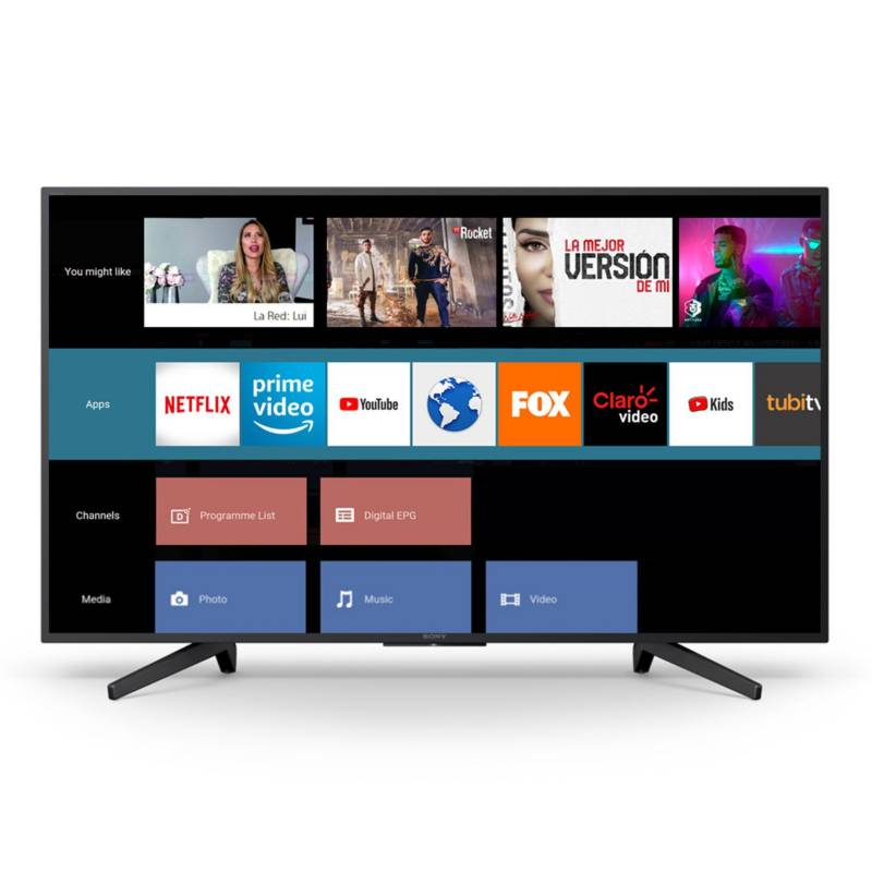 "SONY - Televisor 49"" 4K UHD SMART TV KD-49X725F LA8"