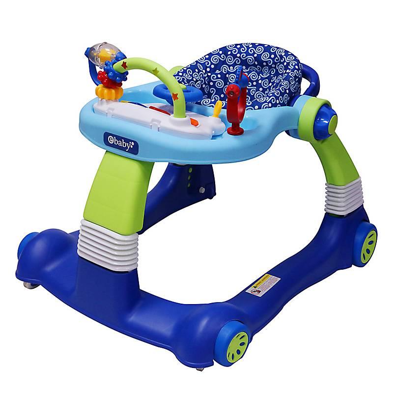 Andador Bebe Azul Silla de Bebe Plegable y Ajustable para beb/és de 6 a 18 meses
