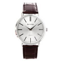 AEROSTAR - Reloj Hombre de Cuero importado