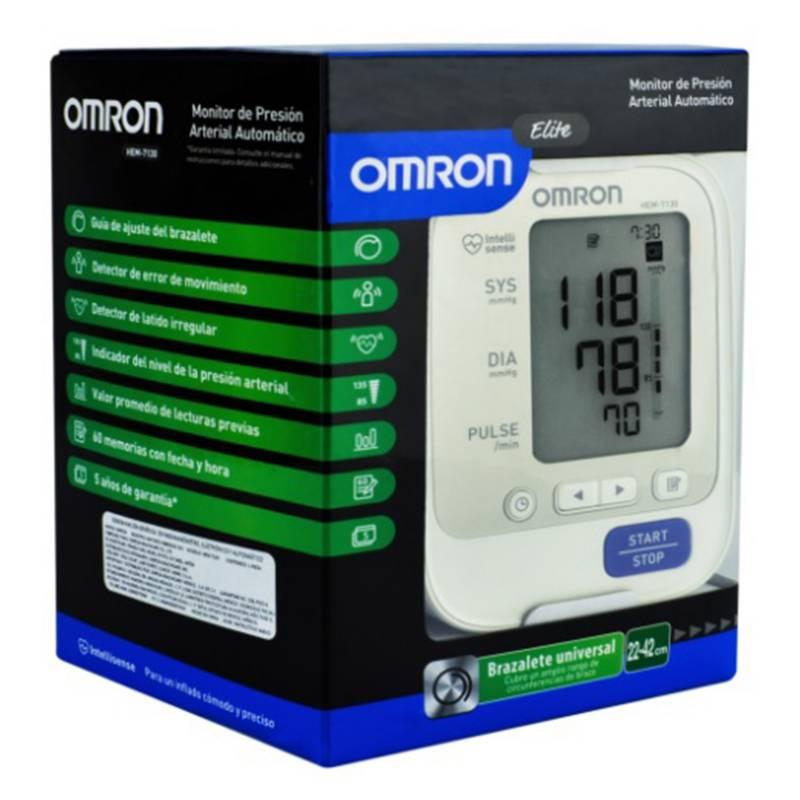 OMRON - Monitor de Presión Arterial de Brazo Automático Elite