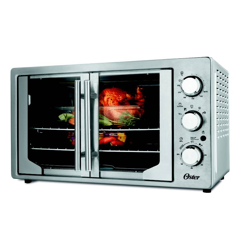 OSTER - Horno Eléctrico French Door Silver 42 Lt