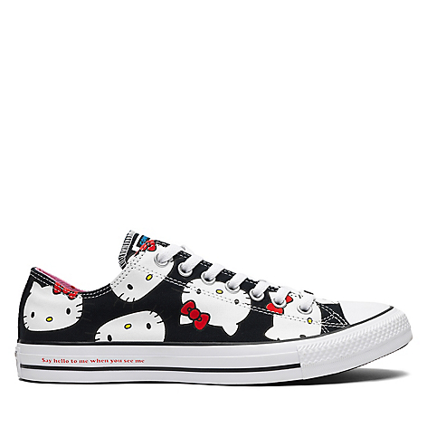converse hello kitty mujer negras