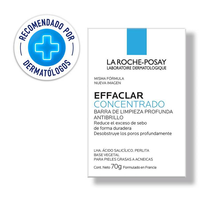 LA ROCHE-POSAY - Effaclar Barra Facial Piel Grasa 70Gr