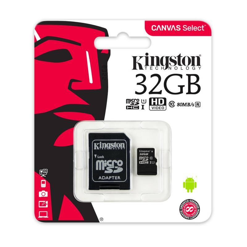 KINGSTON - Memoria Micro SD Kingston Canvas 32GB Clase 10 UHS-I