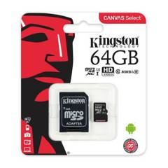 KINGSTON - Memoria Micro SD Kingston Canvas 64GB Clase 10 UHS-I