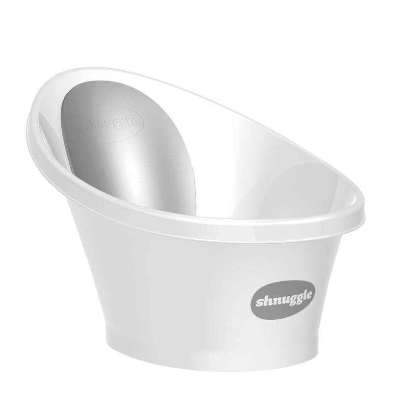 SHNUGGLE - Bañera Para Bebé Blanco Gris
