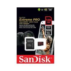 SANDISK - Memoria Micro SD 128GB Extreme Pro 4K U3 UHS-I 100Mbps
