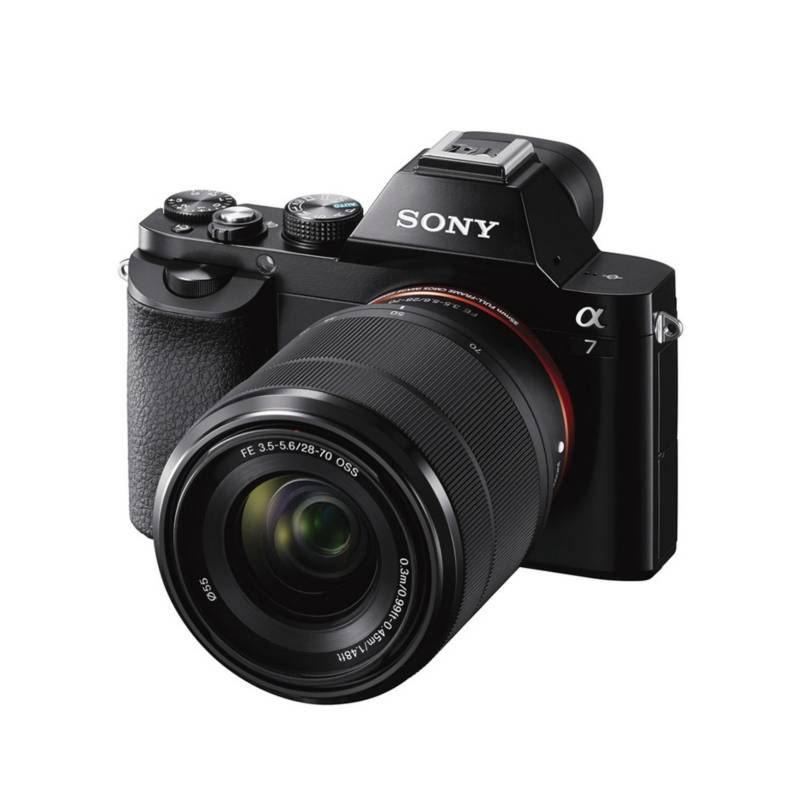 SONY - Cámara Digital Profesional Full Frame ILCE-7K /24.3 MP/Video Full HD/Visor XGA/Lente 28-70mm
