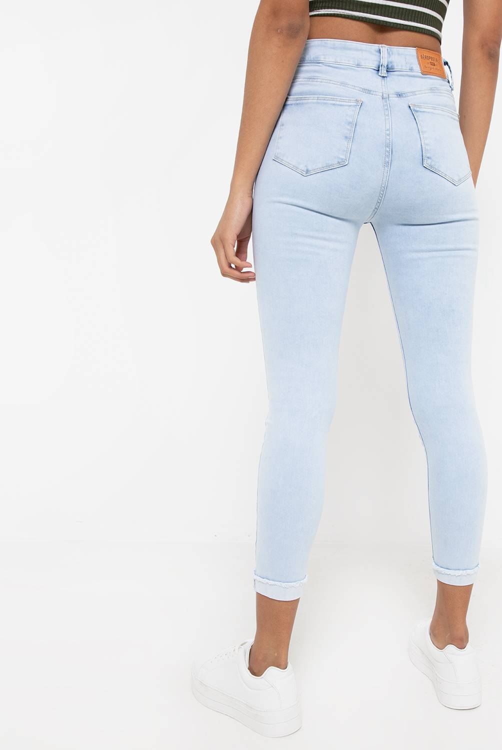 AEROPOSTALE - Jean Roll Up Mujer