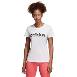 Adidas - Polo Deportivo Essentials Linear Blanco