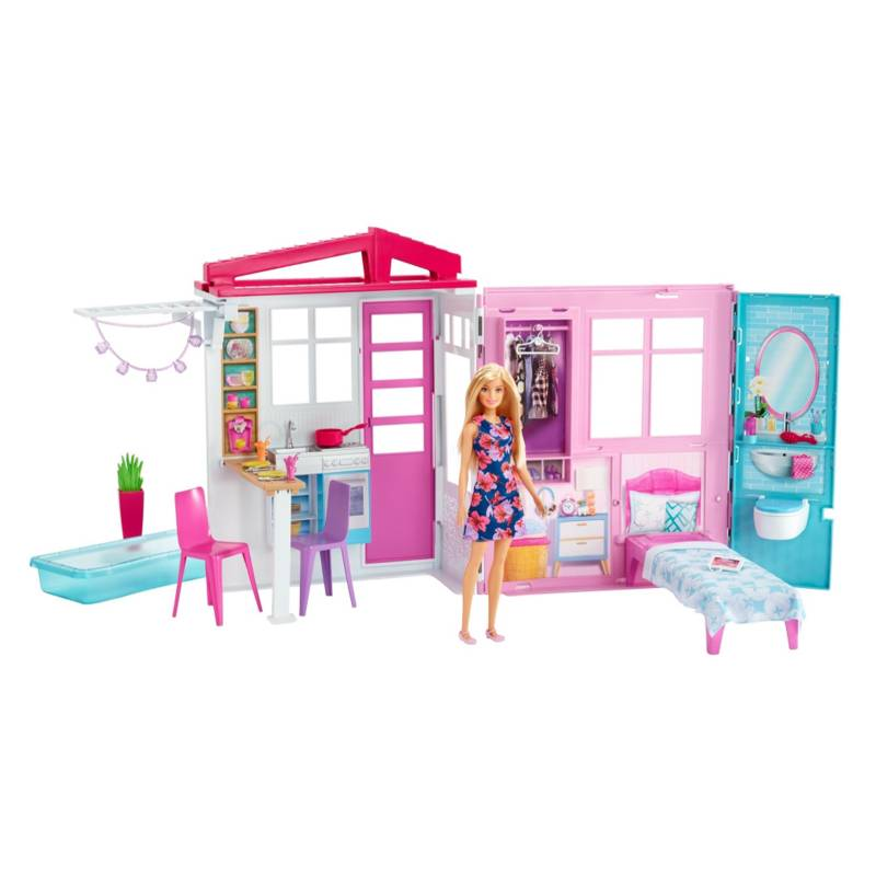 BARBIE - Barbie Casa Glam Con Muñeca